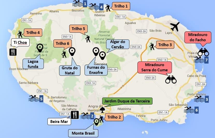mapa ilha terceira Ilha Terceira | Destinos Vividos mapa ilha terceira
