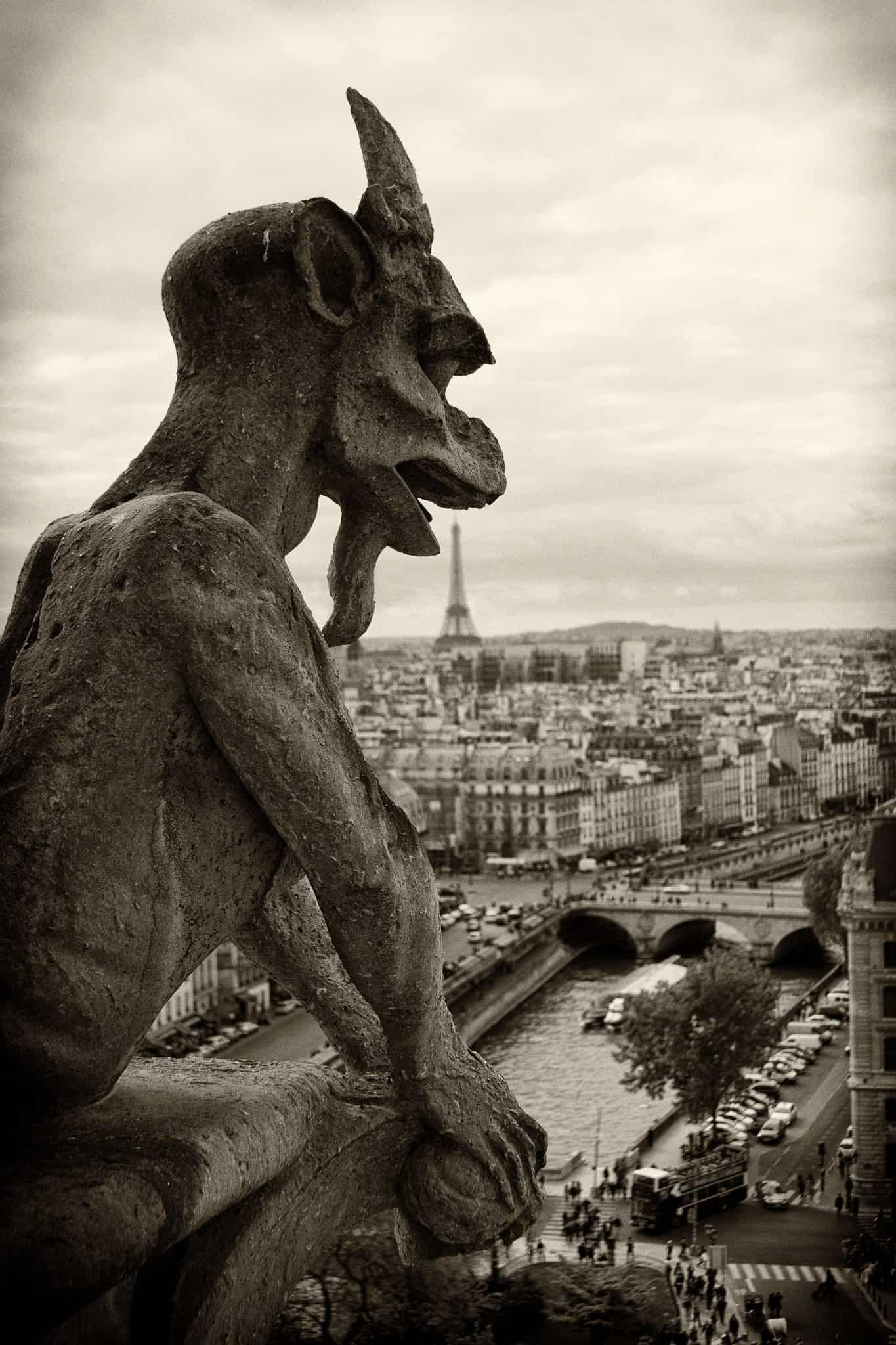 Nas Torres de Notre-Dame de Paris