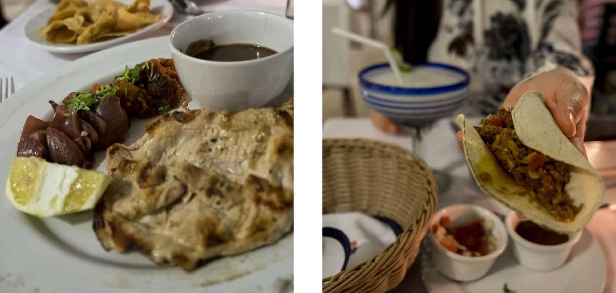 El Mesón del Marqués - Poc Chuc à esquerda e Cochinita Pibil à direita