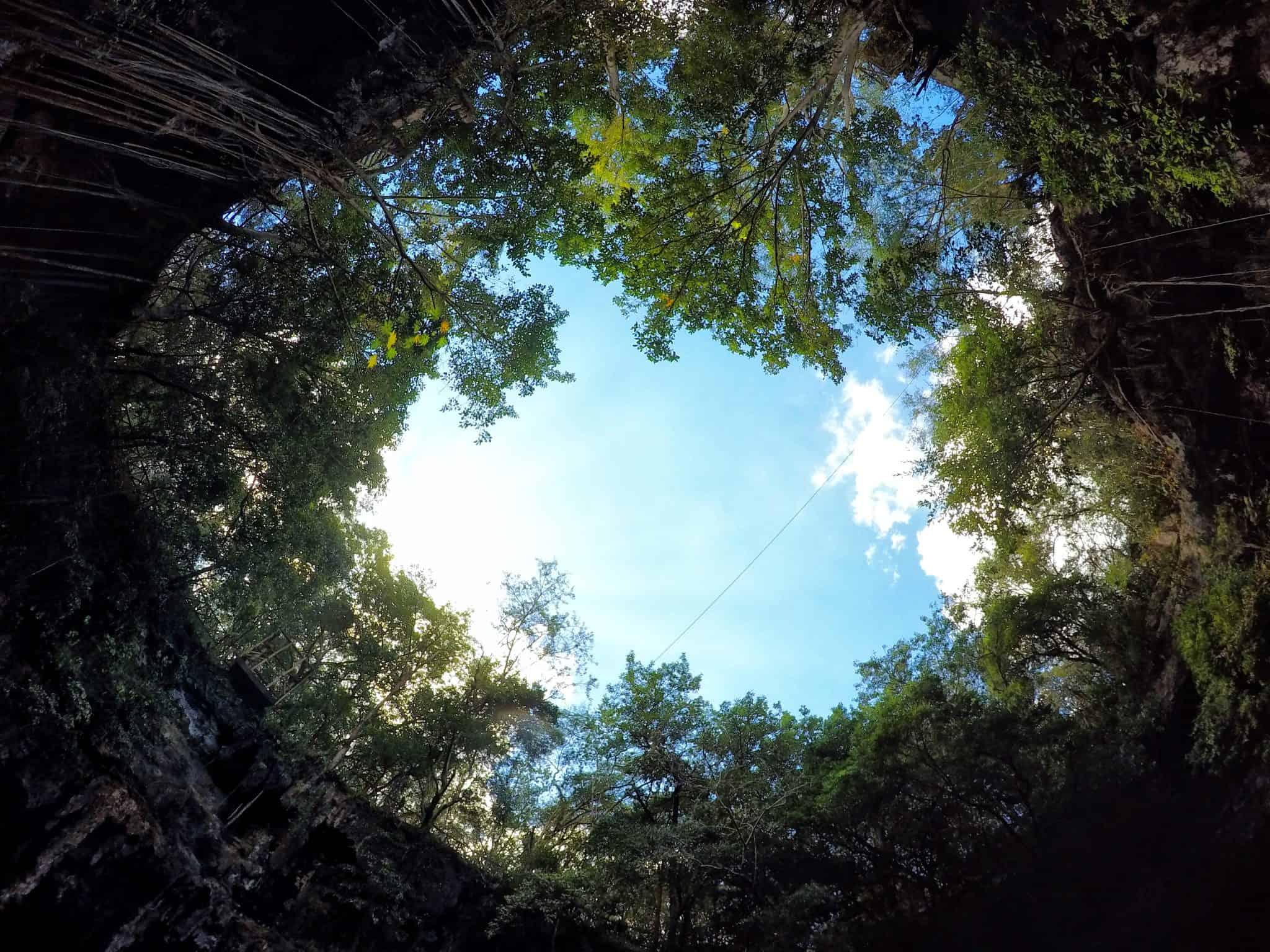 Abertura do cenote Yokdzonot