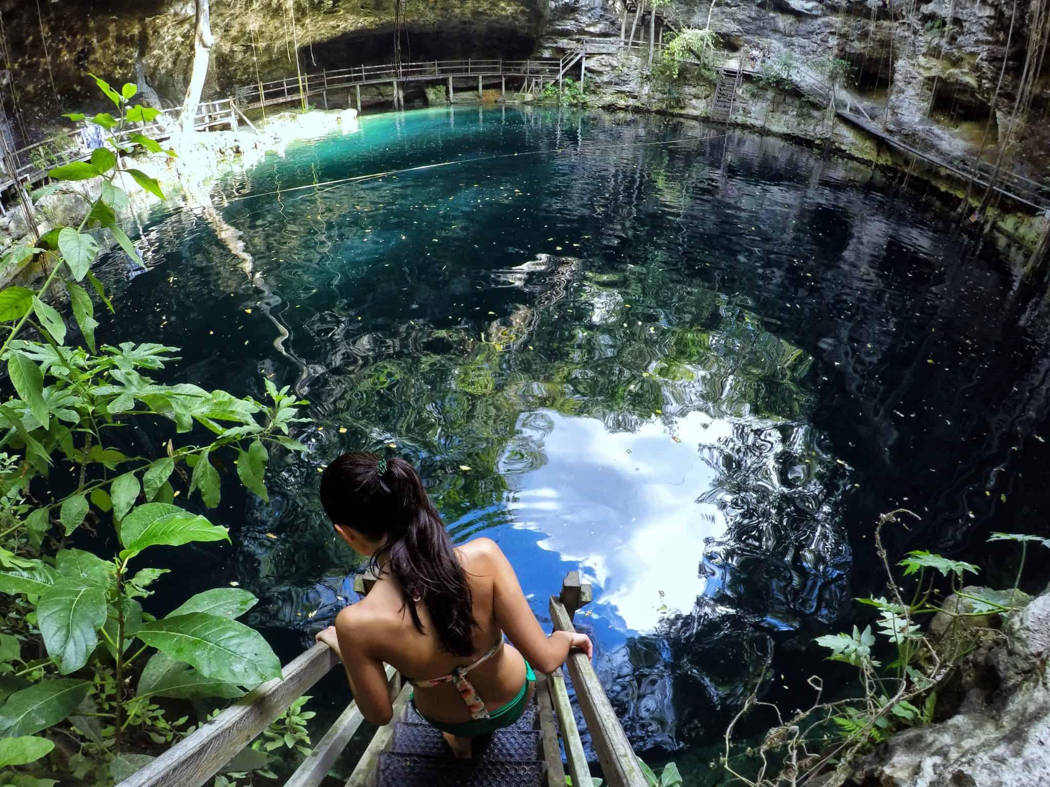 Cenote Xcan Ché junto às ruínas de Ek Balam