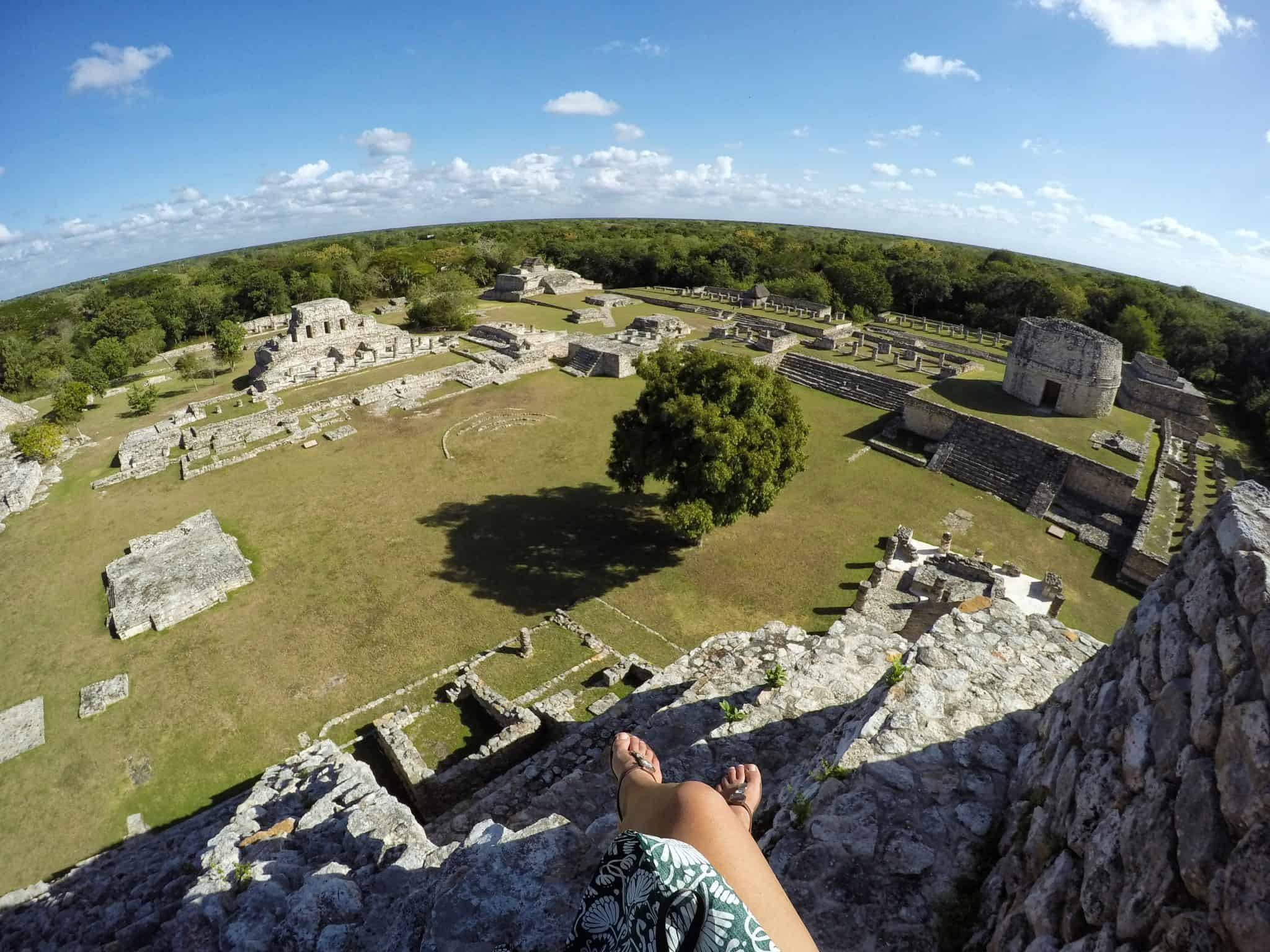 No topo da pirâmide de Mayapán