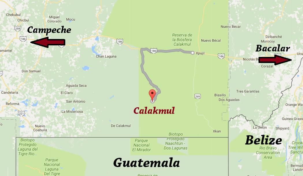 mapa calakmul